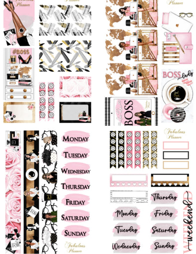Girl Boss Stickers - 4 Sheets