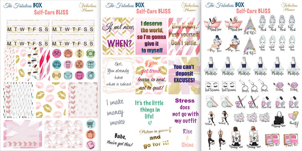 3 Sheets Self Care Sticker Set