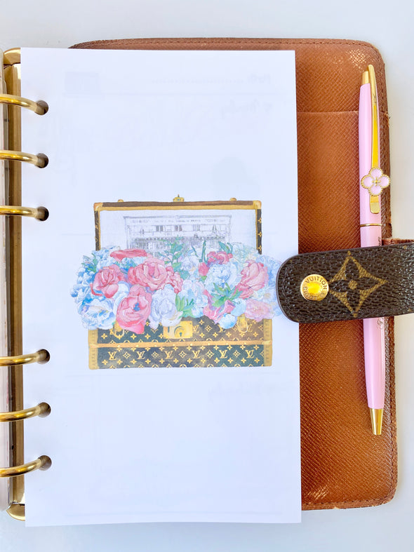 Flower Trunk Week on 2 Pages Planner Inserts