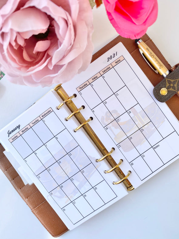 Chic Girl Boss Monthly Planner