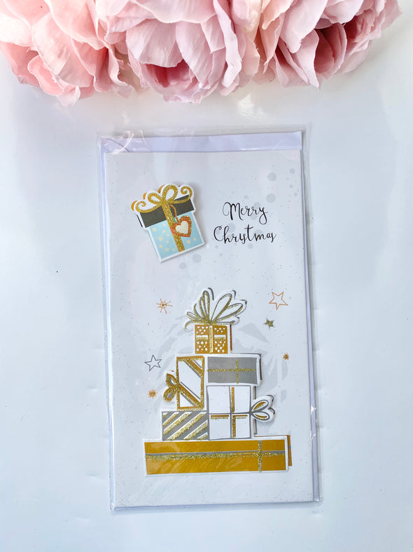 Holiday Gold and Glitter Christmas Card