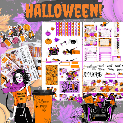 Halloween Kitty Sticker Set - 4 Sheets
