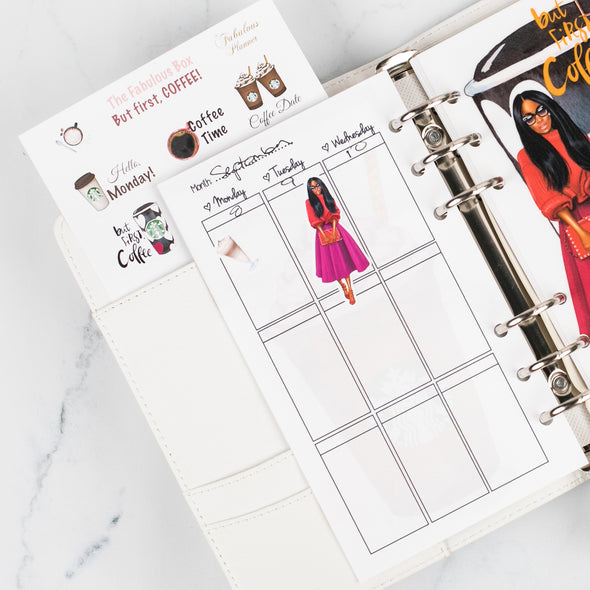 Coffee Lover Planner Weekly Inserts