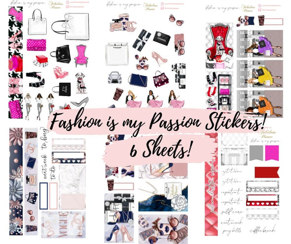 Fashion is my Passion Sticker Kit - 6 Sheets