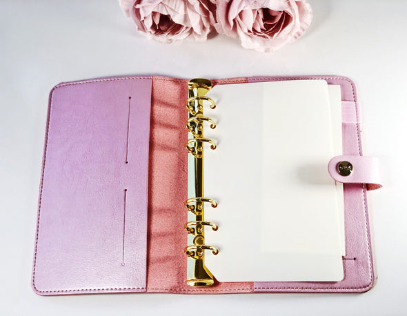 Gold Heart Soft Leather Planner