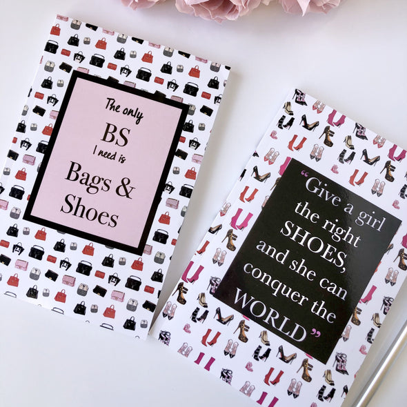 Shoes and Bags Lovers Lined Journal