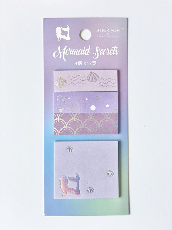 Mermaid Silver Foil Sticky Notes