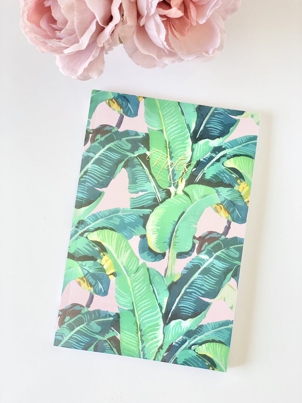 Banana Leaves Lined Journal