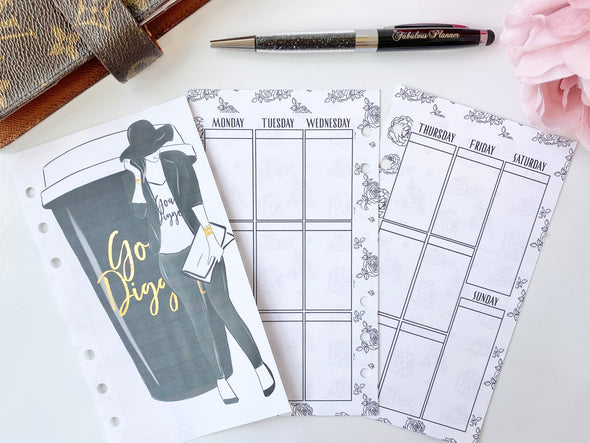 Goal Digger Weekly Inserts Planner Pages