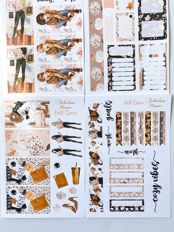 Fall Spice Stickers Kit - 4 Sheets