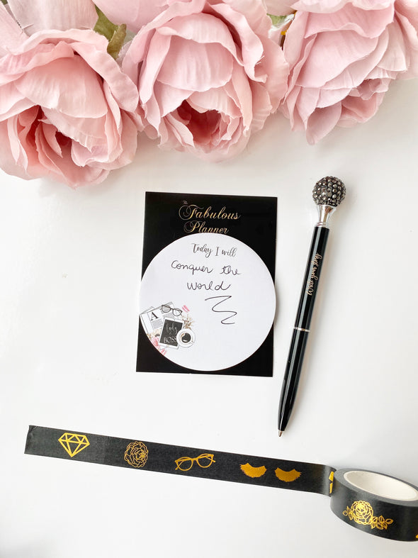 Goal Digger Black and Gold Foil Tape