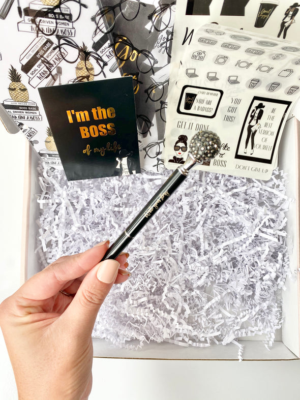 Black Crystal Write your Story Pen