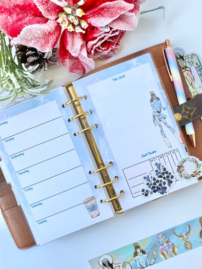 Ice Ice Baby Planner Weekly Inserts