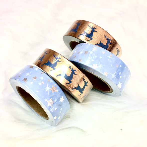 Winter Holiday Gold Foil Washi Tape