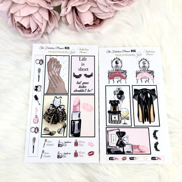 Hollywood Glam Matte Stickers - 2 Sheets