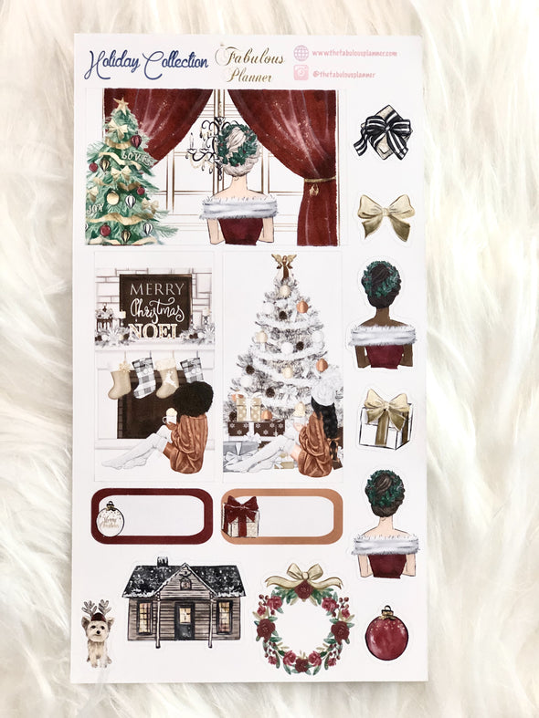 Holiday Christmas Matte Stickers - 2 Sheets