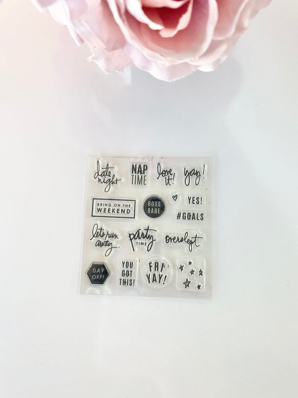 Live Colorfully Functional Planner Stamp