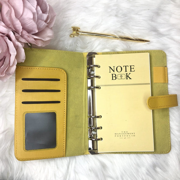 Faux Leather Colorful Ring Planner