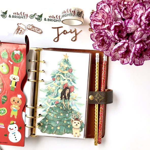 Christmas Girl Holiday Planner Dashboard