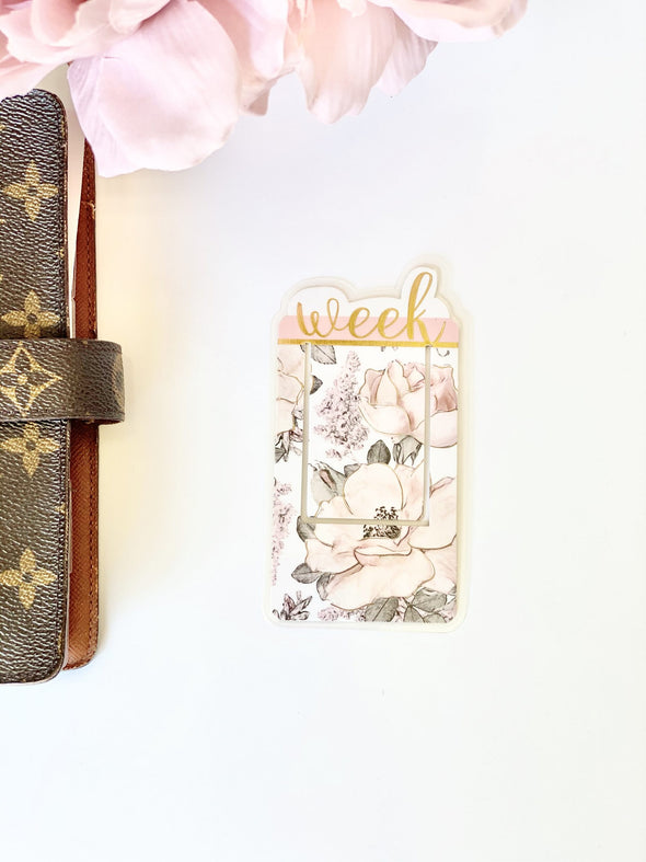 This Week Gold Foil Bookmark
