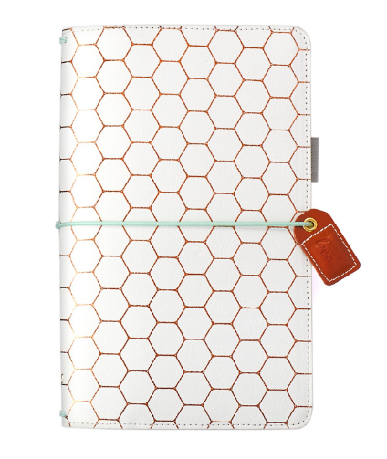 Copper Hexagon Traveler Notebook - Webster's Pages