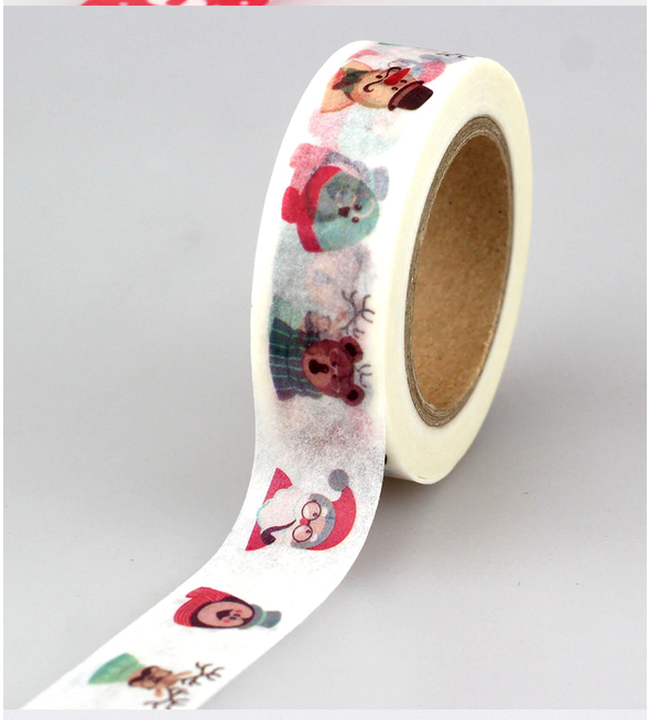 Christmas Holiday Gold Foil Washi Tape