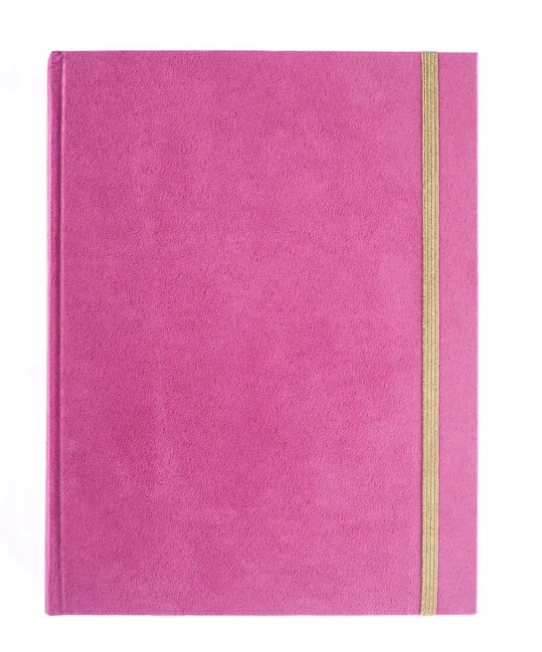 Bright Pink Velvet Journal