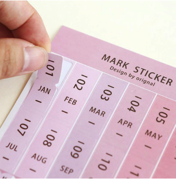 Monthly Calendar Index Tabs Stickers