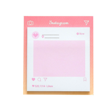 Instagram Notepad Memo Sticky Notes