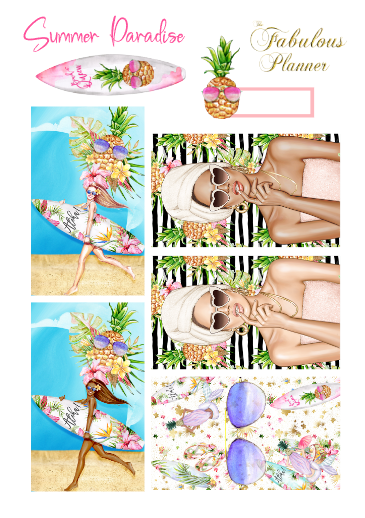 Summer Paradise Sticker Kit - 3 Sheets