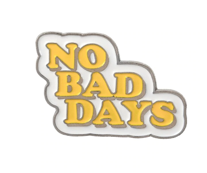 No Bad Vibes enamel pin