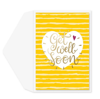 Get Well Soon Bright Greeting Card