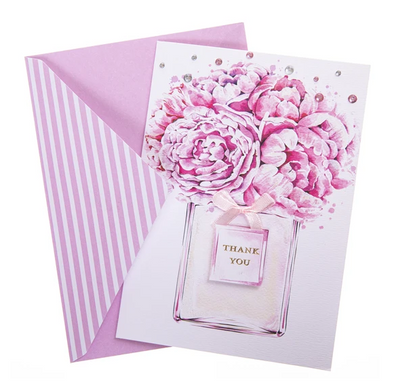 Flower Perfume Thank you Card