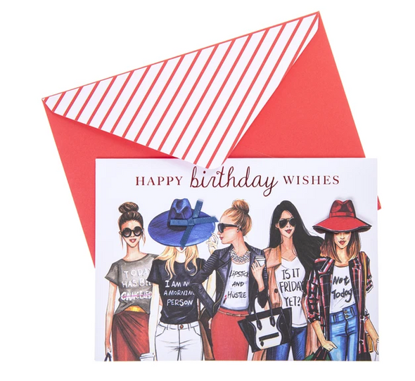 Fashionista Birthday Card