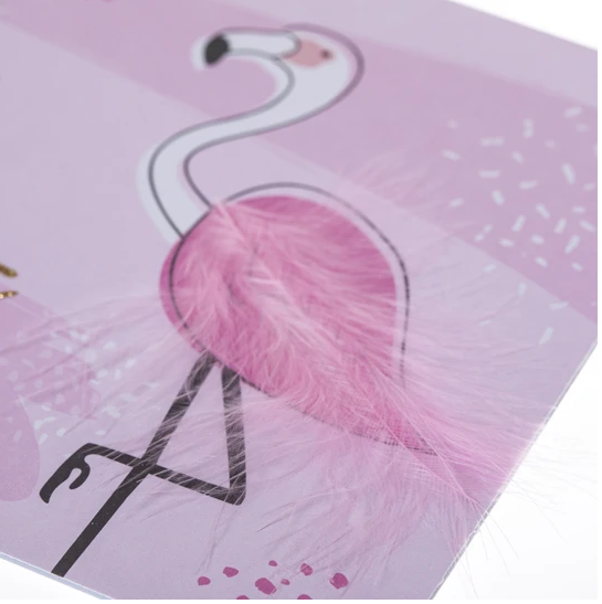 Fabulous Flamingo Embellished Card