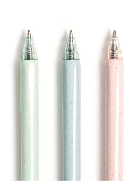 Gel Click Recycled Plastic Pastel Speckle Pens
