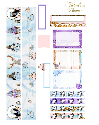 3 Sheets Ice Ice Baby Winter Stickers