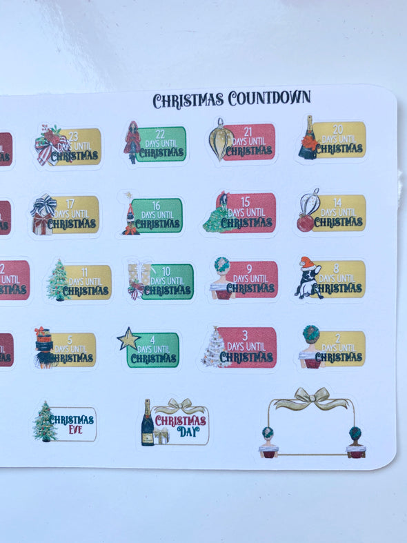 Luxury Holidays Christmas Countdown - 1 Mini Sheet