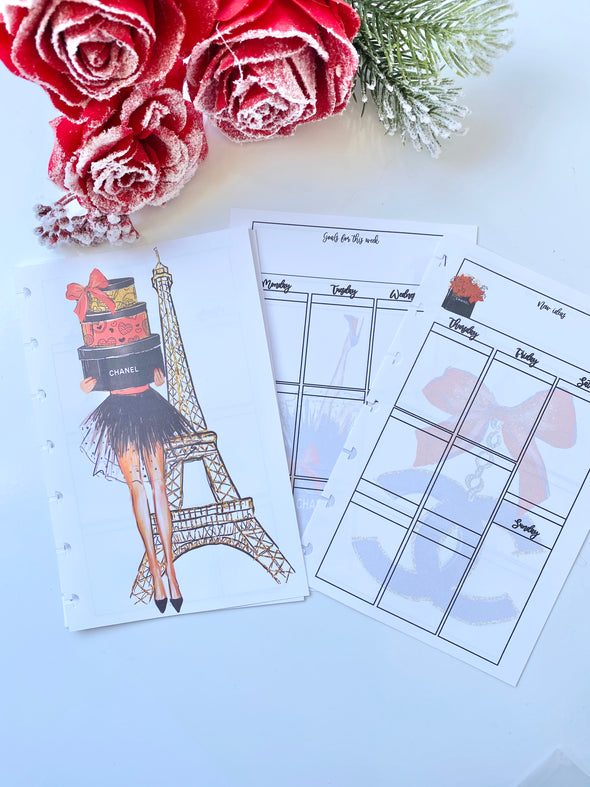 Luxury Holiday Planner Weekly Inserts