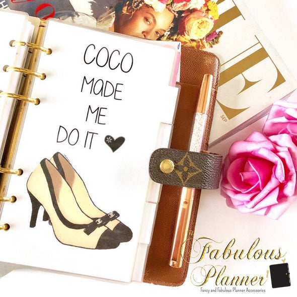 Coco Chanel Shoes Planner Dashboard