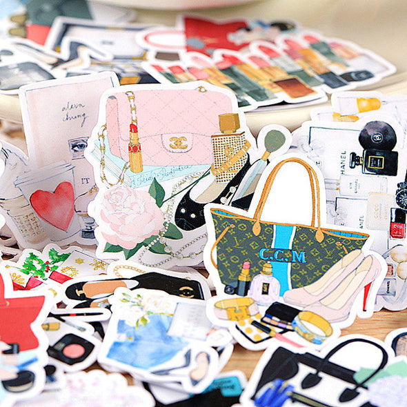 Fancy Handbags Die Cut Stickers