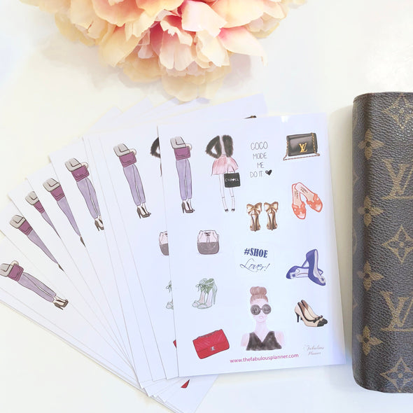 Fashion Illustration Matte Stickers