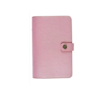 Soft Leather Pink Ringbound Planner