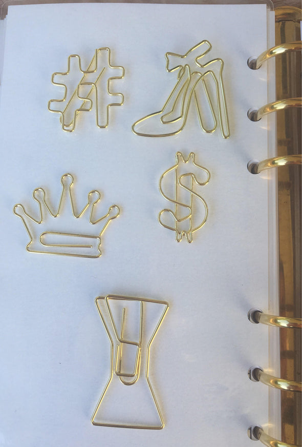 Fancy Gold Paper Clips