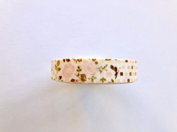 ThinPink Floral Stripes Washi Tape