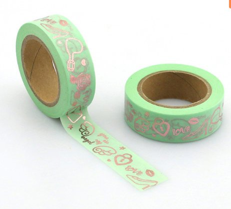 Shoes Gold Foil Washi Tape
