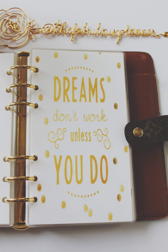 Dreams don't work unless you do Planner Dashboard