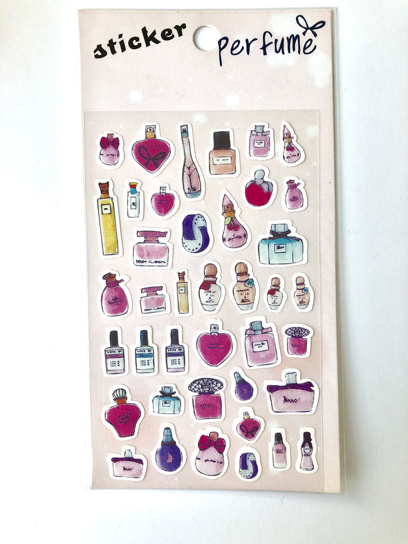 Perfume Bottle Stickers - 1 sheet