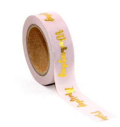 Days of the Week Gold Foil Tape