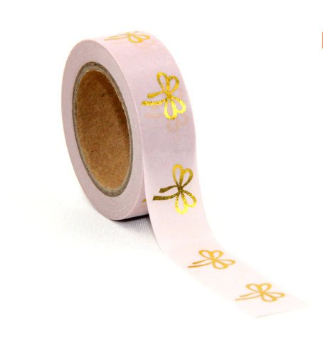 Pink Gold Bow Washi Tape